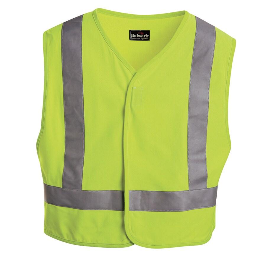 Bulwark Medium Yellow Modacrylic/Aramid High/Enhanced Visibility Flame Resistant Safety Vest