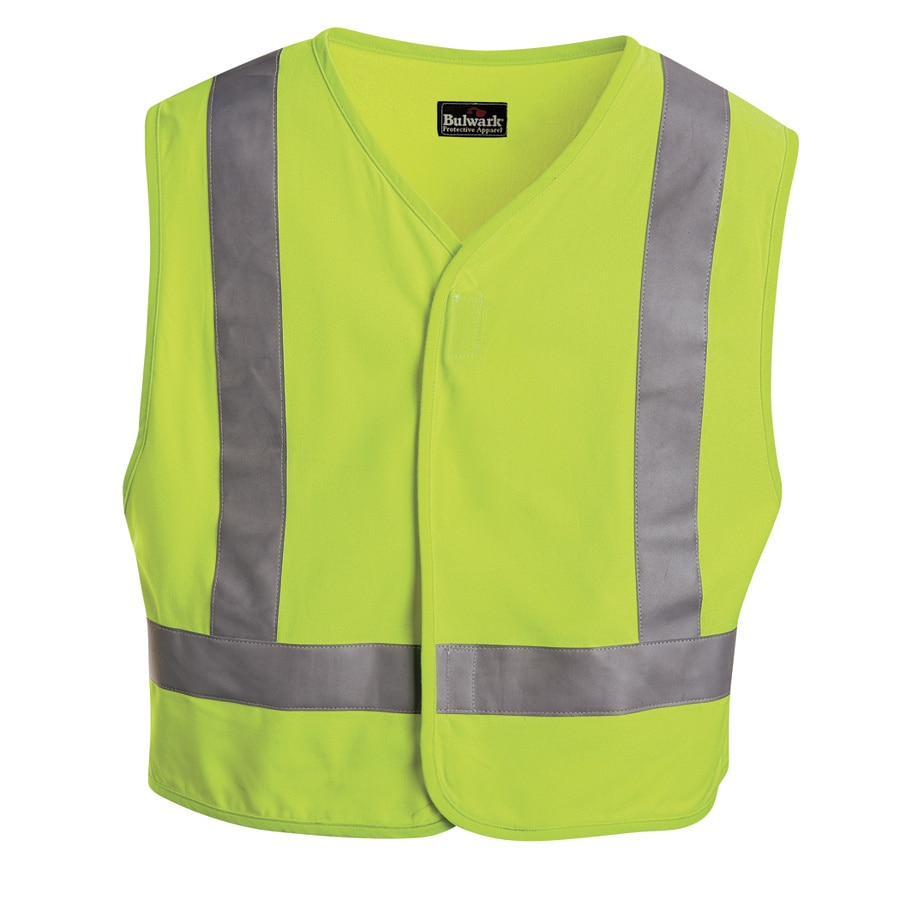 Bulwark 3XL Yellow Modacrylic/Aramid High/Enhanced Visibility Flame Resistant Safety Vest