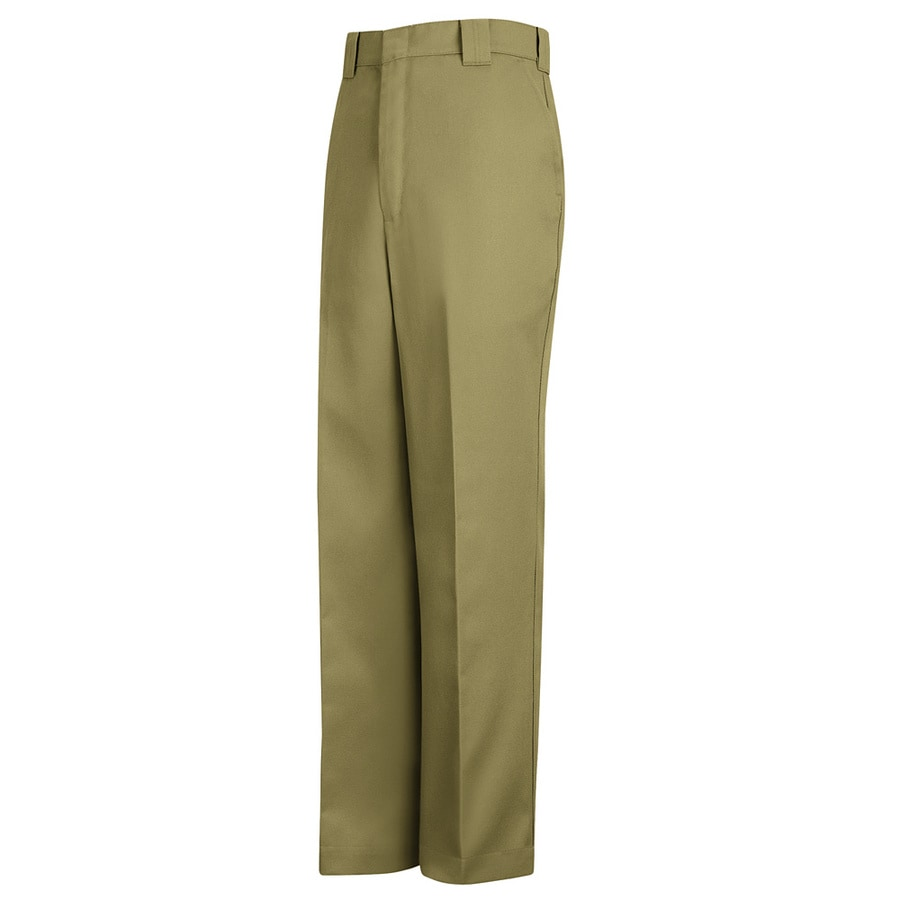 Shop Red Kap Men's 28 x 34 Khaki Twill Uniform Work Pants at Lowes.com
