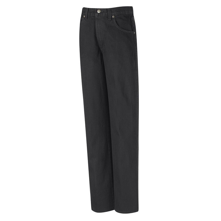 Red Kap Men's 46x30 Prewashed Black Denim Jean Work Pants