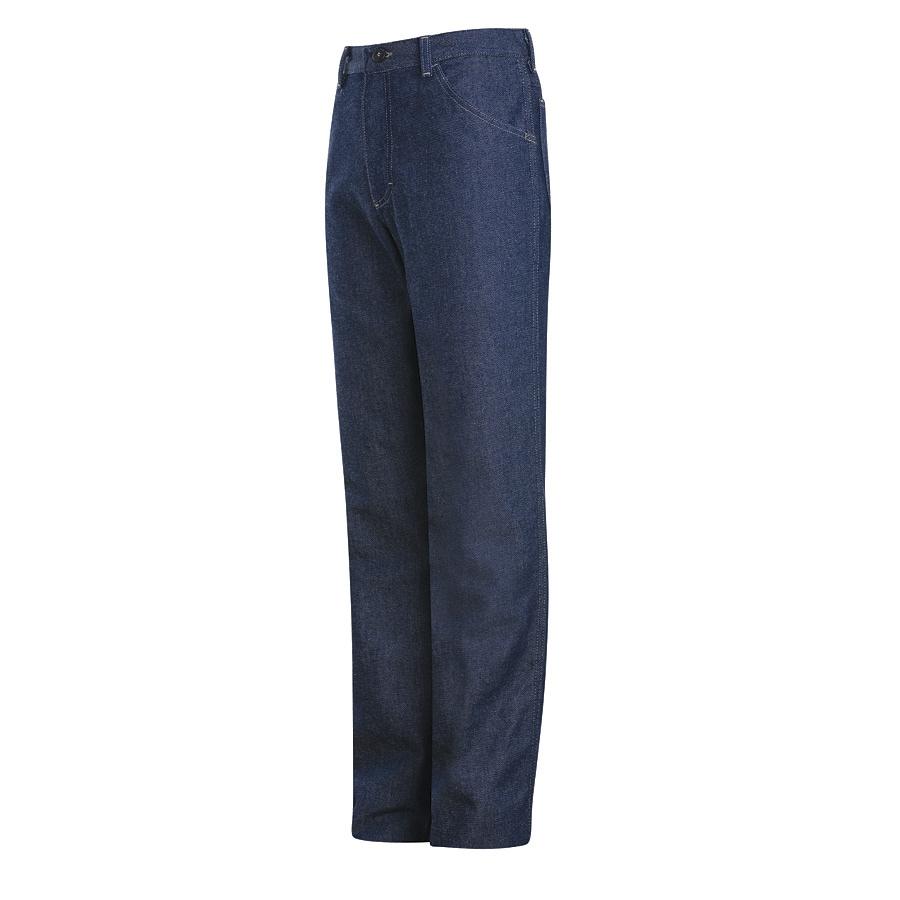 Bulwark Men's 34 x 30 Blue Denim Jean Work Pants