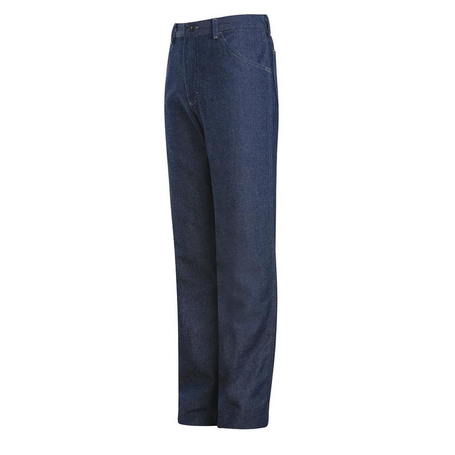 Bulwark Men's 42 x 32 Blue Denim Jean Work Pants