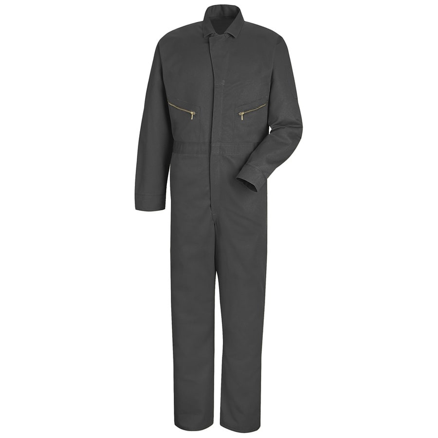 Red Kap 38 Men's Grey Long Sleeve Coveralls