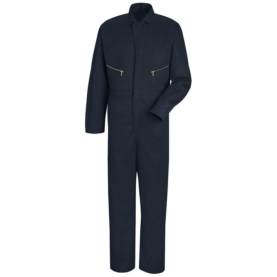 Red Kap 44 Men's Navy Long Sleeve Coveralls