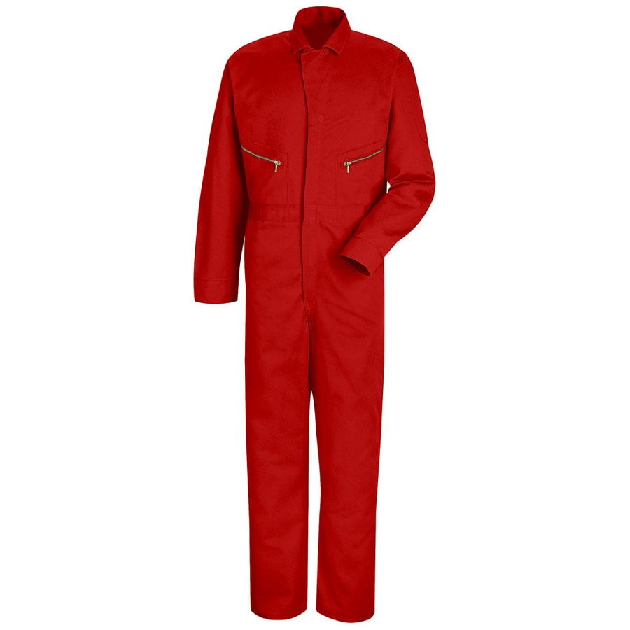 Red Kap 38 Men's Red Long Sleeve Coveralls
