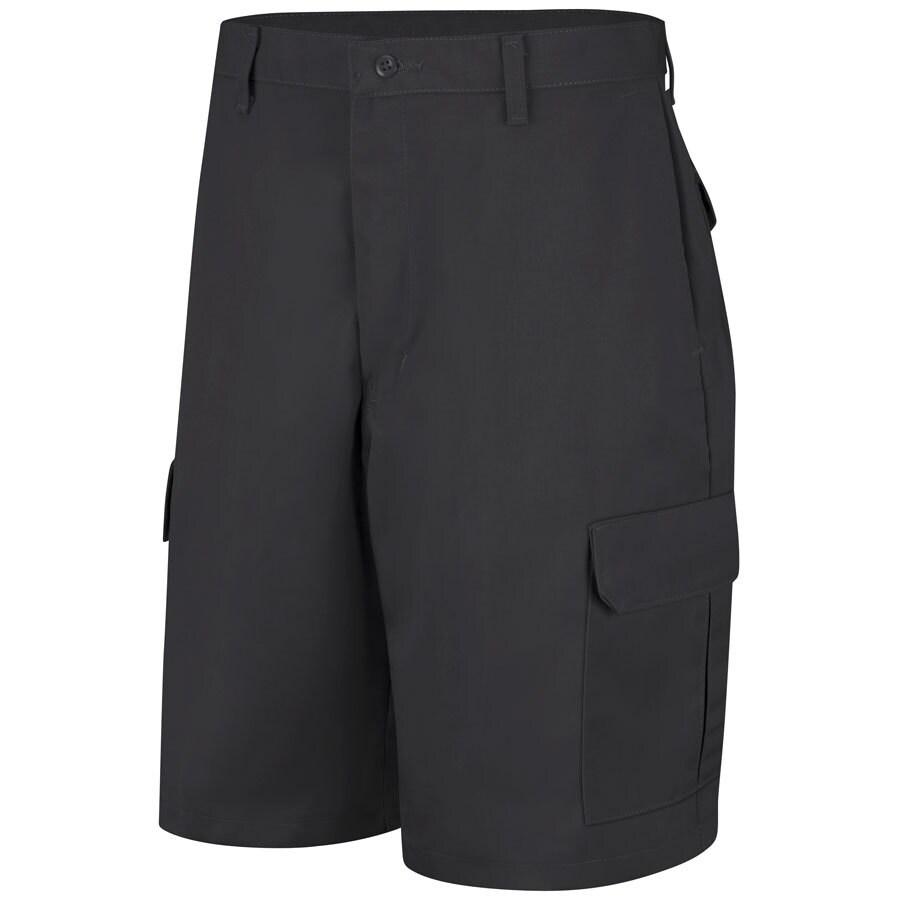 Red Kap Men's 34 Black Twill Cargo Work Shorts