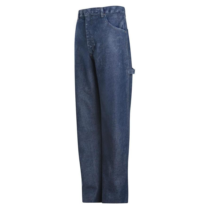 Bulwark Men's 34 x 30 Stonewash Denim Jean Work Pants