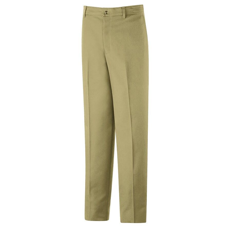 Red Kap Men's 46 x 32 Khaki Twill Work Pants