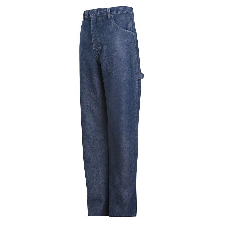 Bulwark Men's 46 x 32 Stonewash Denim Jean Work Pants