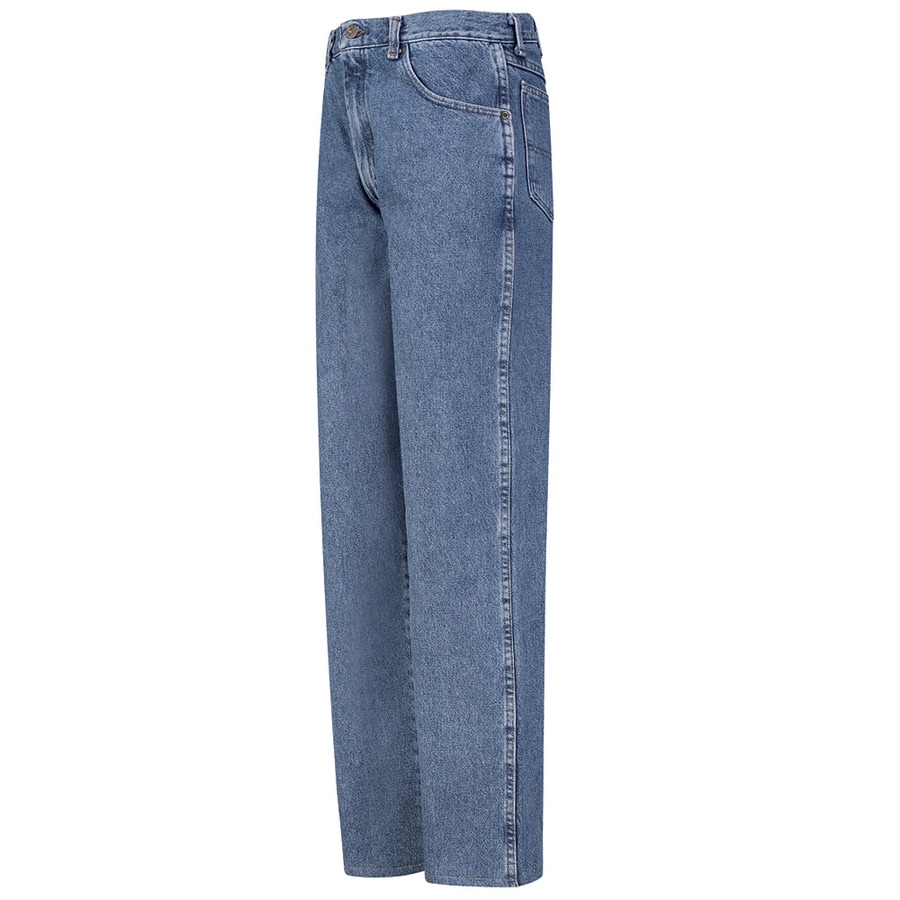 Red Kap Men's 42 x 32 Stonewash Denim Jean Work Pants