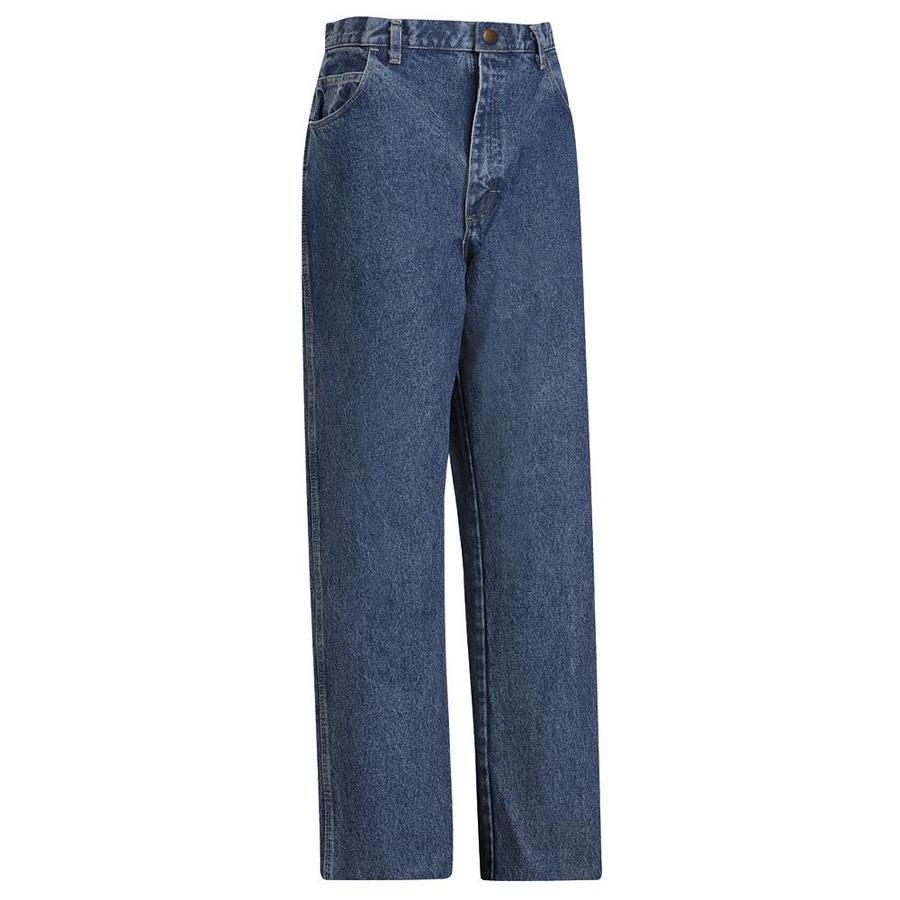 Bulwark Men's 28 x 34 Stonewash Denim Jean Work Pants