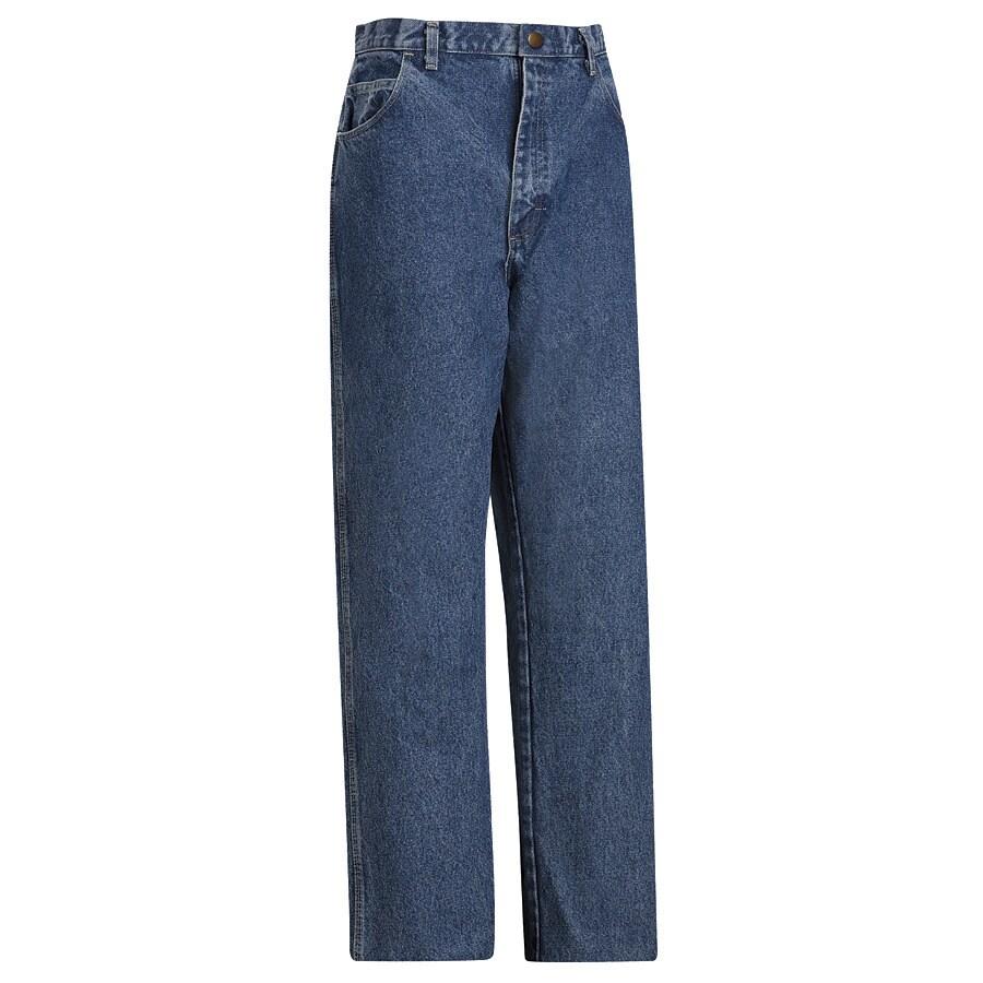 Bulwark Men's 36 x 30 Stonewash Denim Jean Work Pants