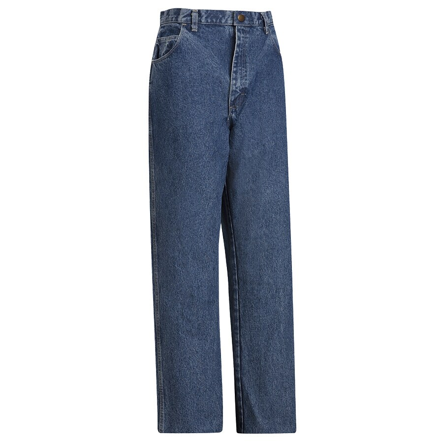 Bulwark Men's 44 x 32 Stonewash Denim Jean Work Pants