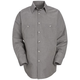 Mens Long Sleeve Micro-Check Uniform Shirt