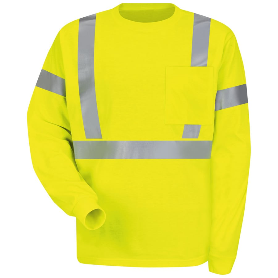 Red Kap X-Large Safety Green High Visibility Reflective T-Shirt