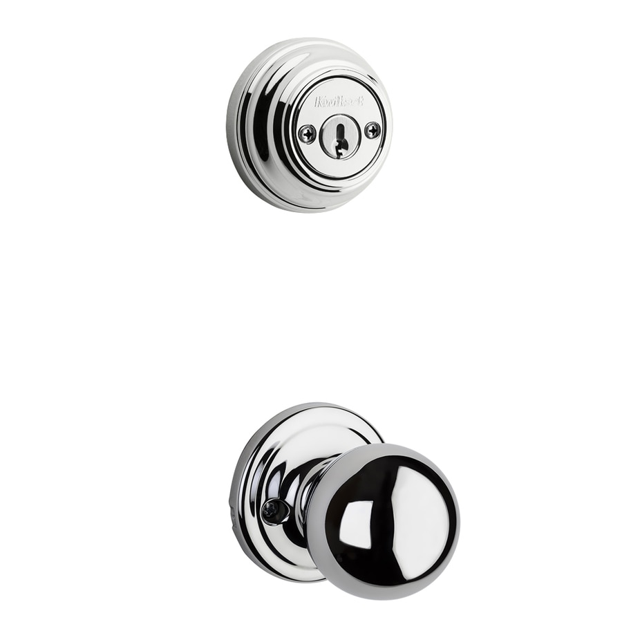 Kwikset Circa 1-3/4-in Polished Chrome Double Cylinder Knob Entry Door Interior Handle