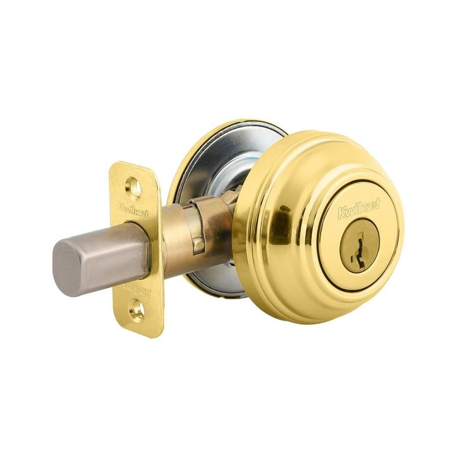 Kwikset 980 SmartKey Polished Brass Single-Cylinder Deadbolt