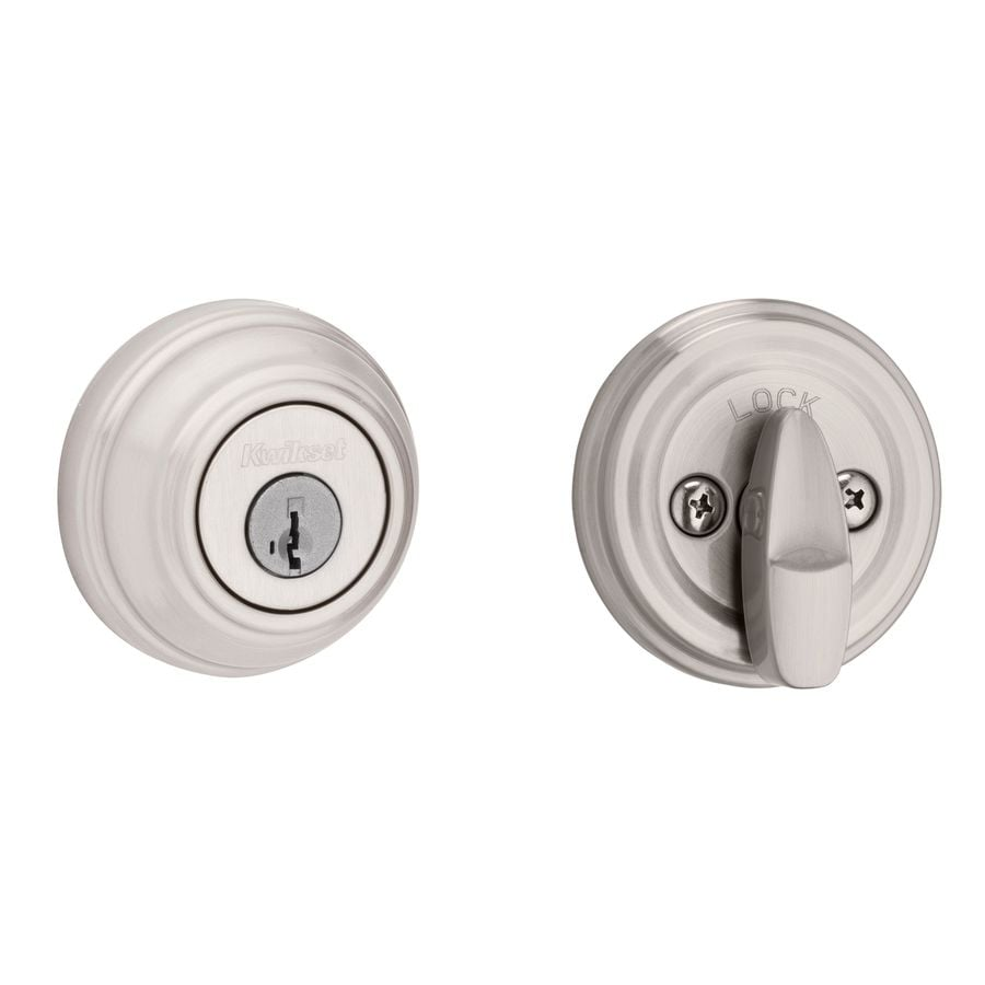Kwikset 980 SmartKey Satin Nickel Single-Cylinder Deadbolt