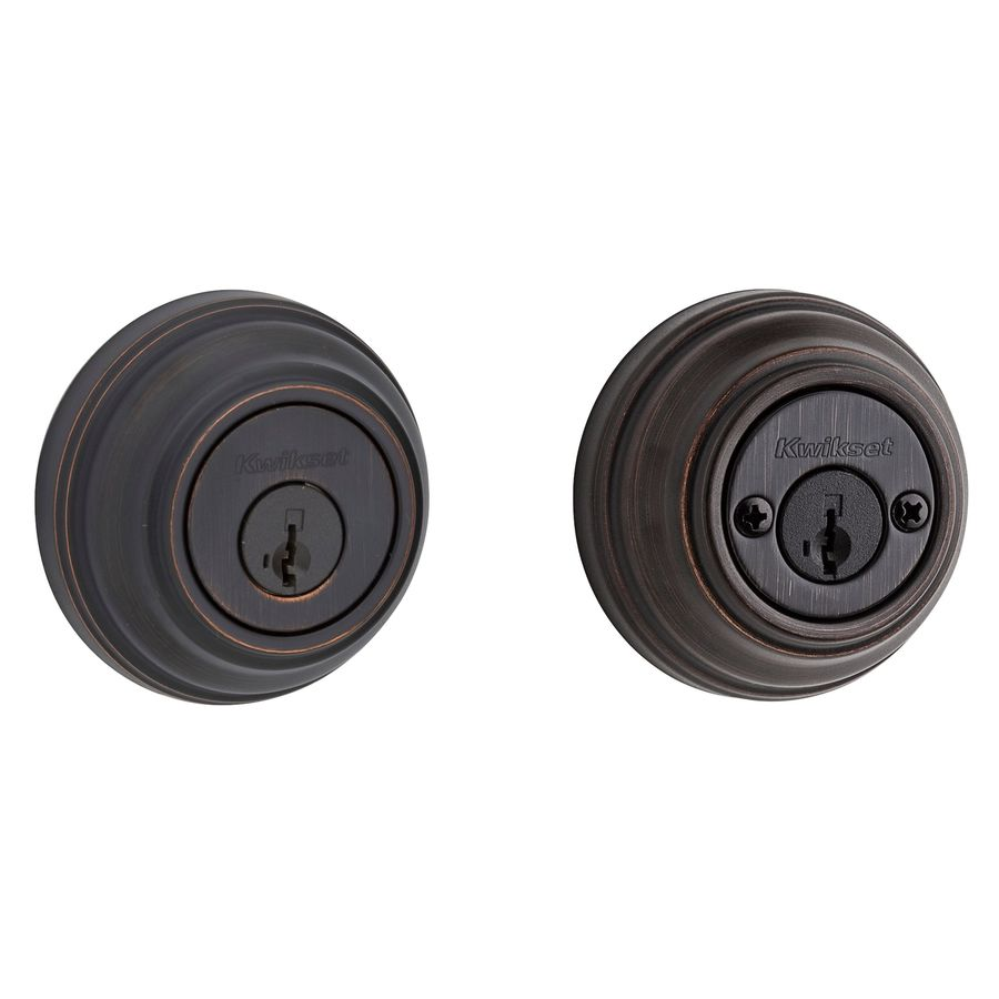 Kwikset 985 SmartKey Venetian Bronze Double-Cylinder Deadbolt