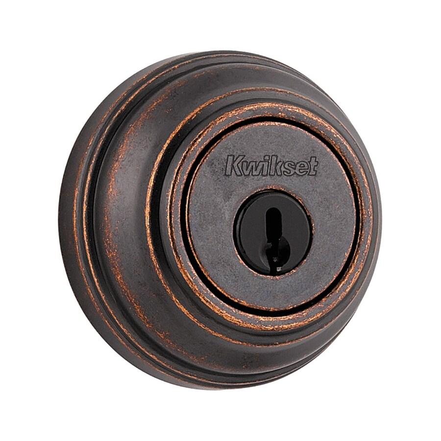 Kwikset Signature 985 Rustic Bronze Double-Cylinder Deadbolt