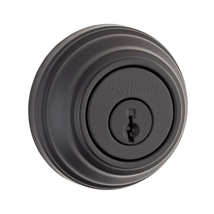 Kwikset Signature 985 Iron Black Double-Cylinder Deadbolt