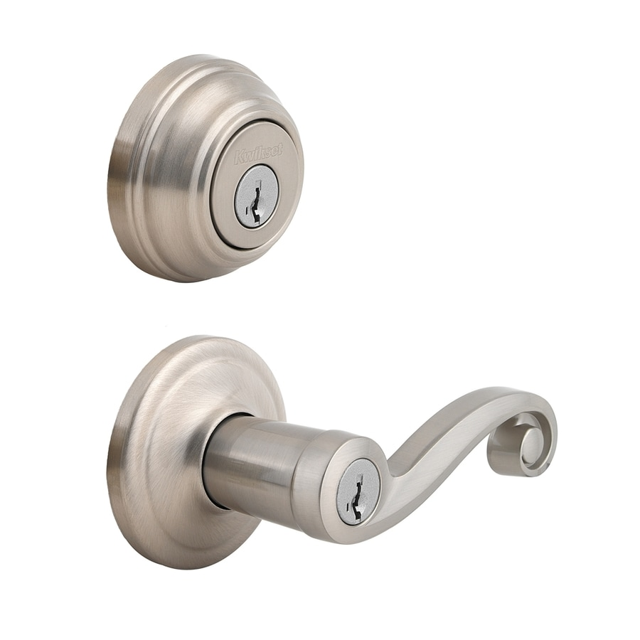 Kwikset Lido SmartKey Satin Nickel Residential Keyed Entry Door Lever