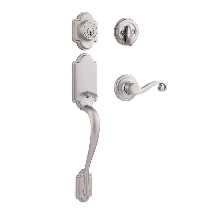 Kwikset Signature Arlington SmartKey Satin Nickel Single-Lock Keyed Entry Door Handleset