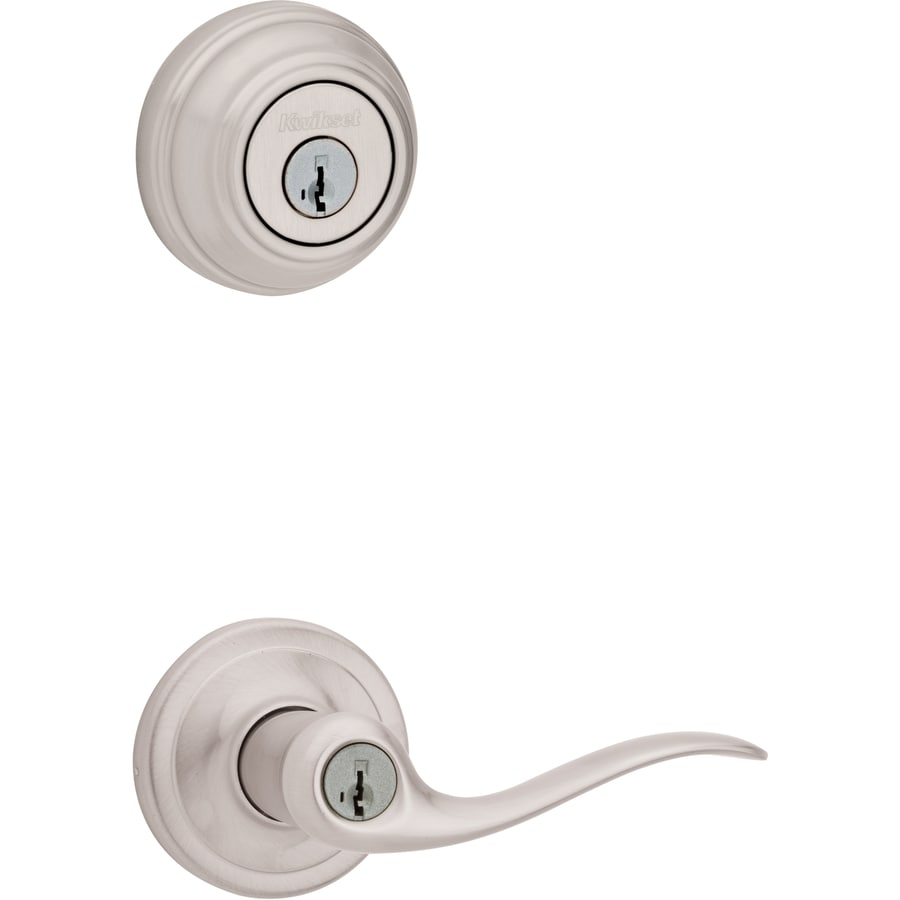 Kwikset Tustin SmartKey Satin Nickel Residential Keyed Entry Door Lever
