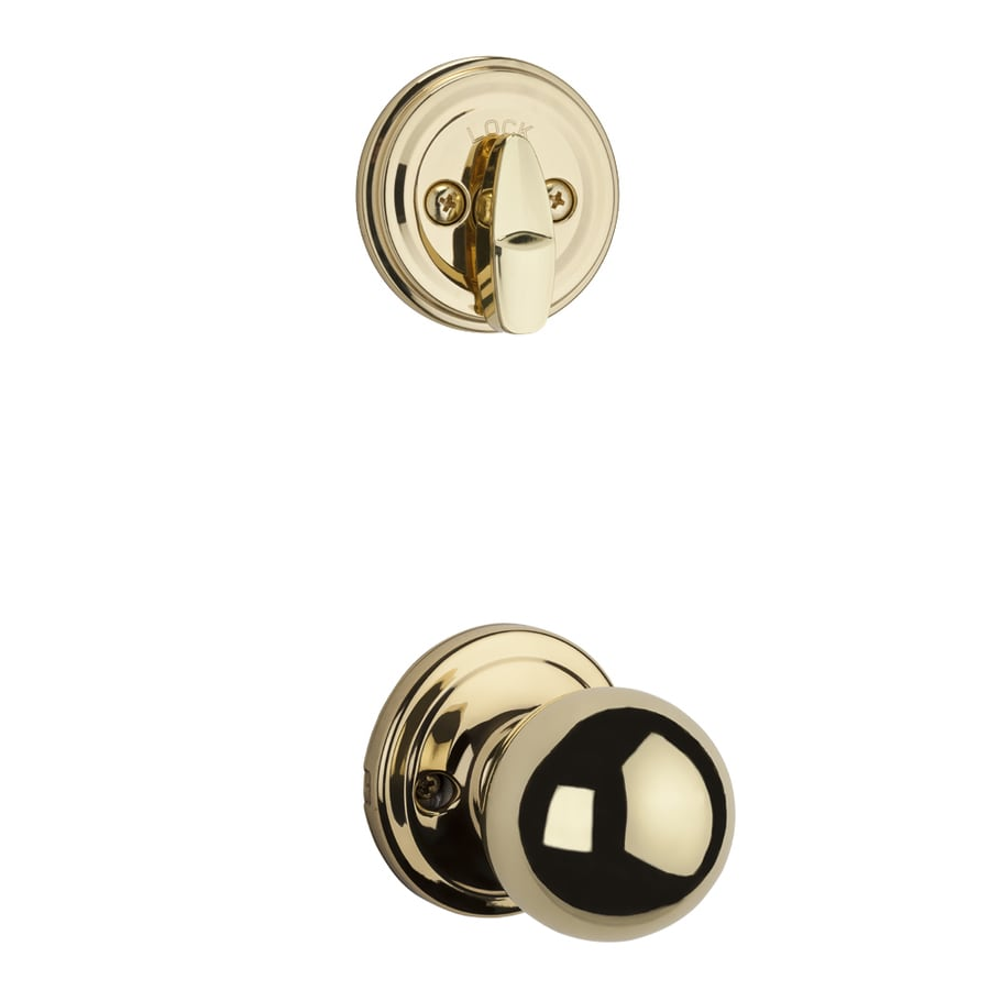 Kwikset Circa 1-3/4-in Polished Brass Single Cylinder Knob Entry Door Interior Handle