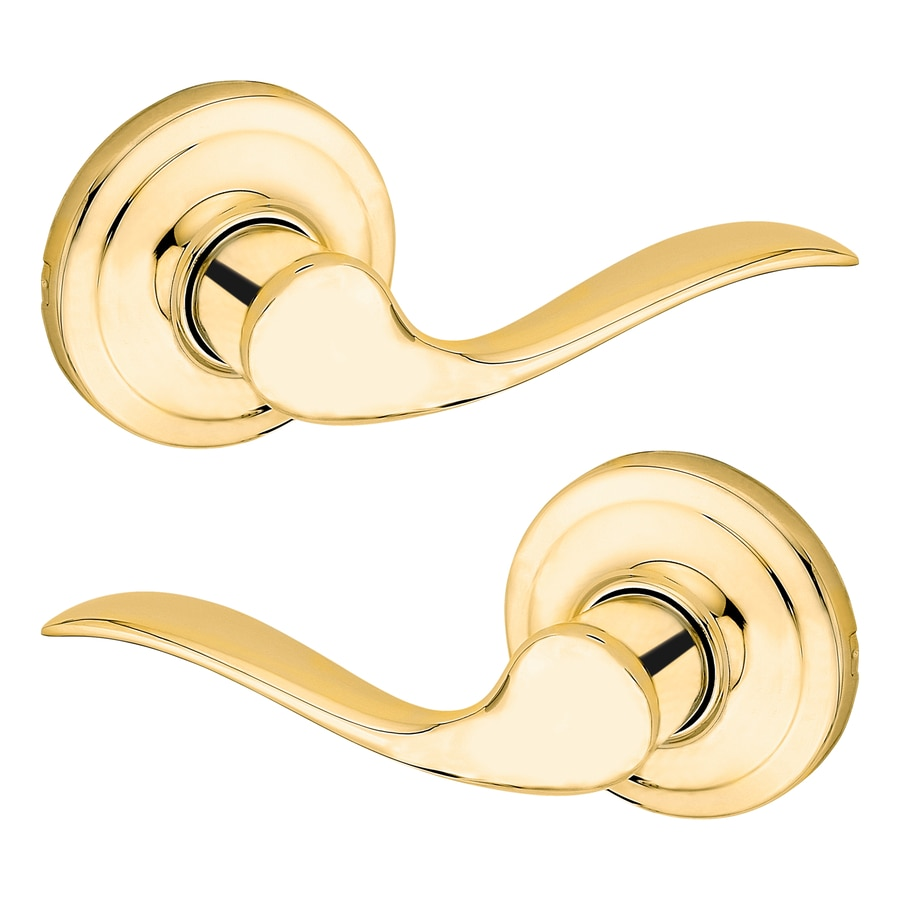 Kwikset Tustin Polished Brass Right-Handed Dummy Door Lever