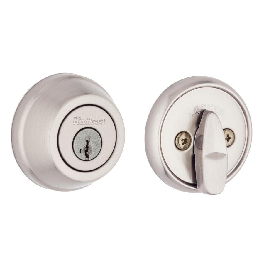 Kwikset Signature 780 SmartKey Satin Nickel Single-Cylinder Deadbolt