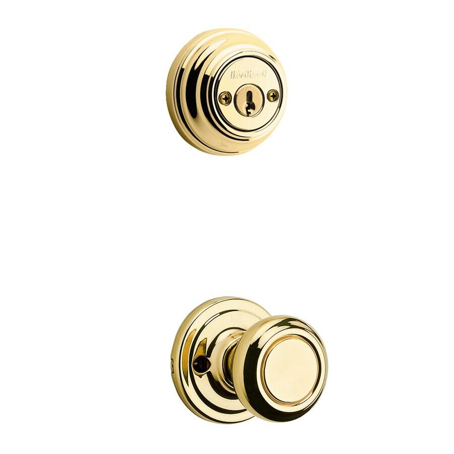 Kwikset Signature Cameron Polished Brass Double Cylinder