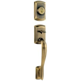 Schlage Jh Lasalle Antique Brass Single Cylinder Deadbolt Entry Door Interior Handle Lasalle In The Handlesets Department At Lowes Com