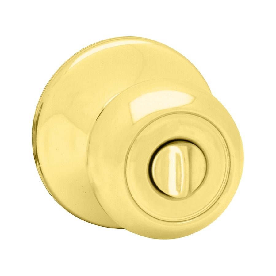 Kwikset Signature Copa Polished Brass Round Turn-Lock Privacy Door Knob
