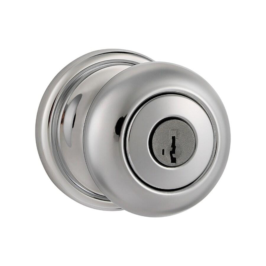 Kwikset Signature Hancock Polished Chrome Keyed Entry Door Knob with Smartkey