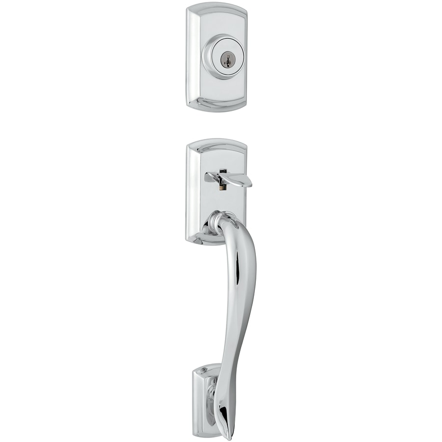 Kwikset Avalon Adjustable Polished Chrome Entry Door Exterior Handle