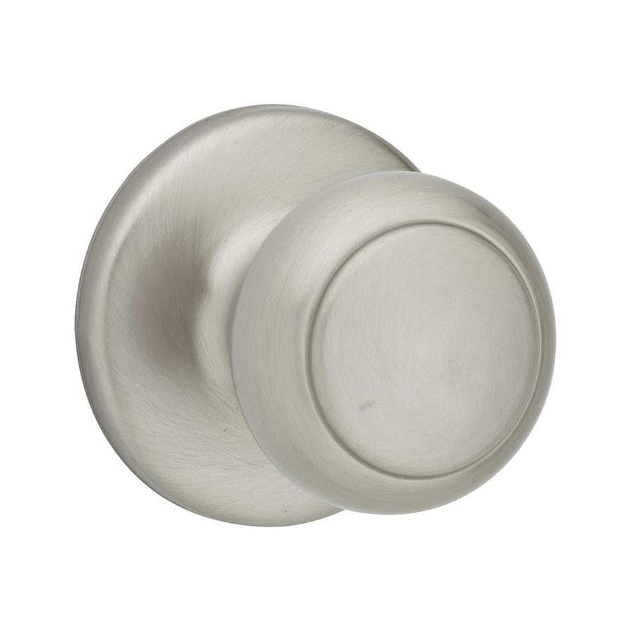 Shop kwikset cove satin nickel round passage door knob at - Satin nickel interior door knobs ...