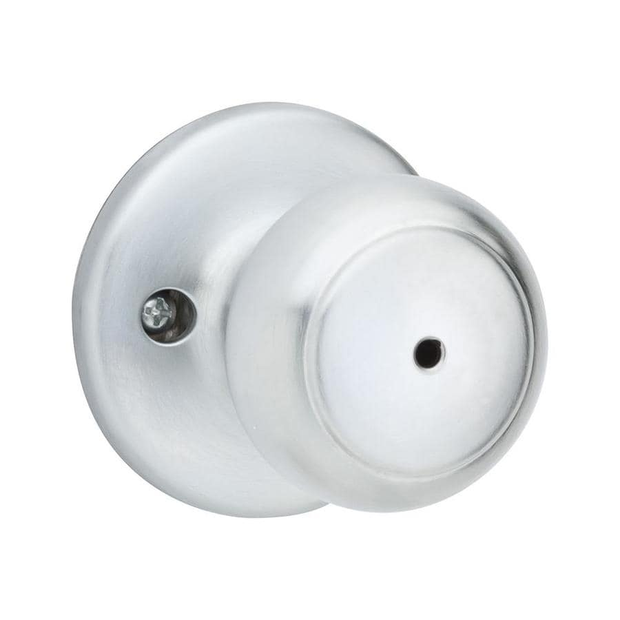 Kwikset Cove Satin Chrome Round Turn-Lock Privacy Door Knob