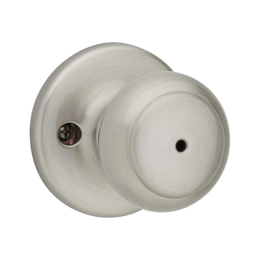 Kwikset Cove Satin Nickel Round Turn-Lock Privacy Door Knob