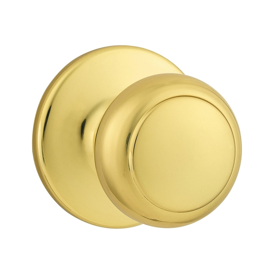 Kwikset Cove Polished Brass Round Passage Door Knob