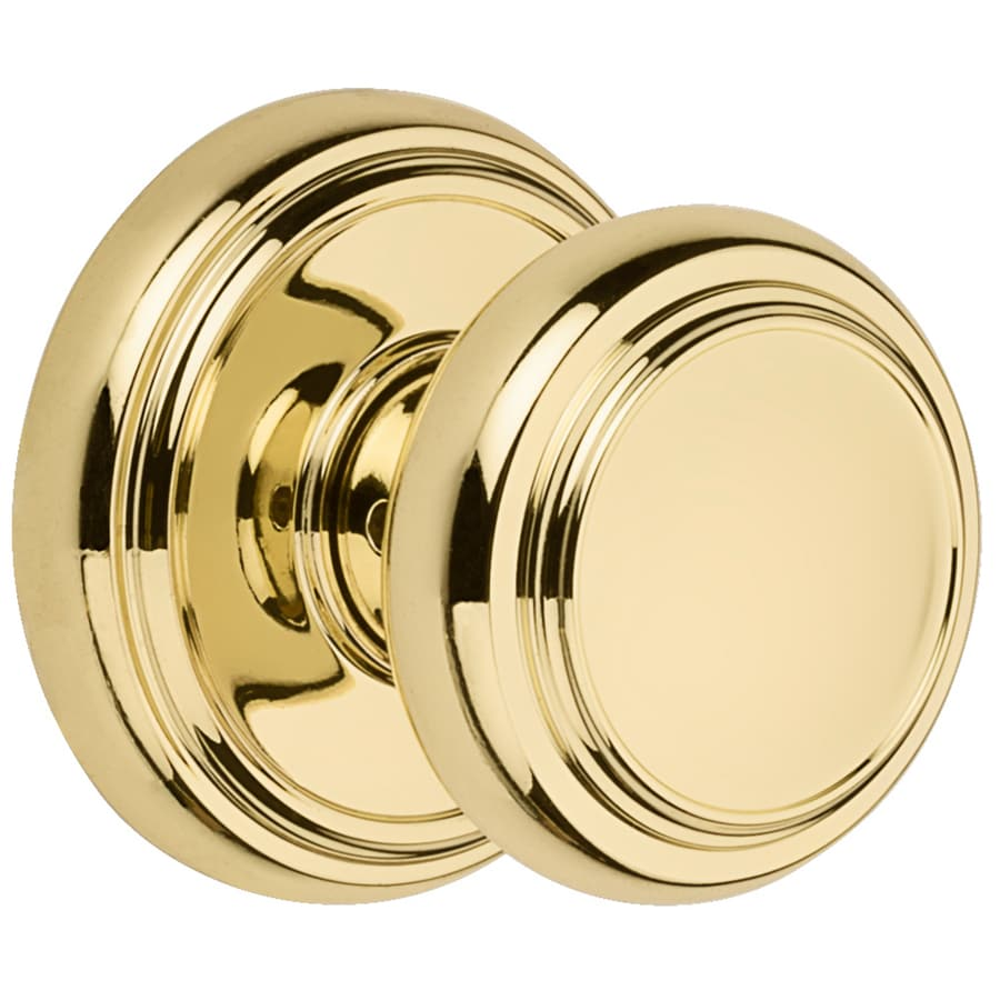 Kwikset Alcott Polished Brass Round Passage Door Knob