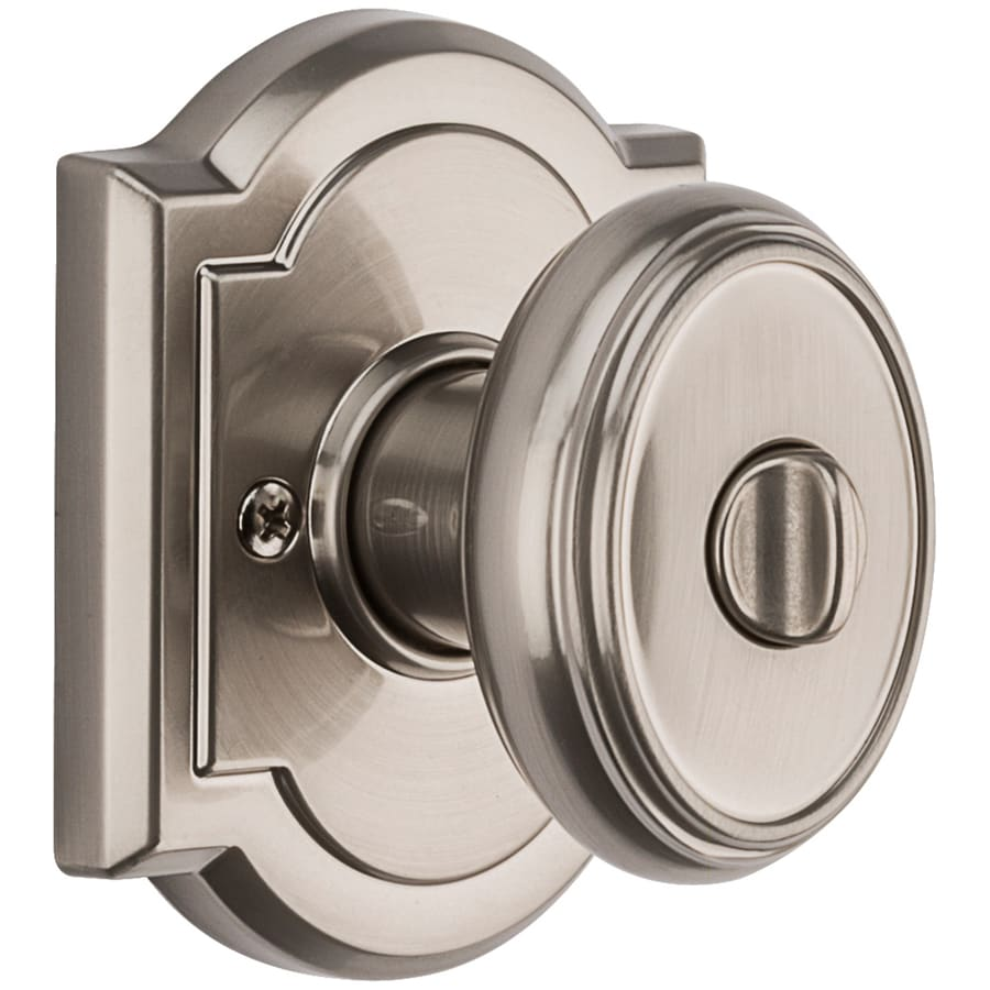 Shop BALDWIN Carnaby Satin Nickel Egg Turn Lock Privacy Door Knob at ...