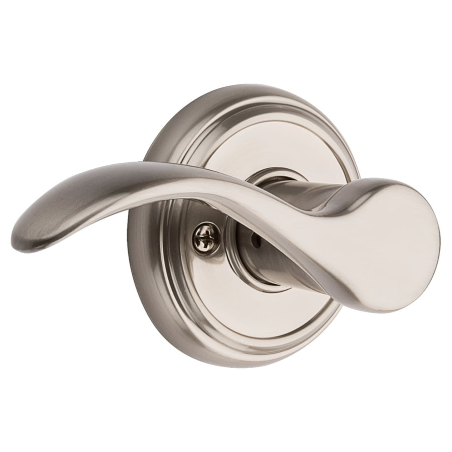 Merveilleux BALDWIN Tobin Satin Nickel Passage Door Handle