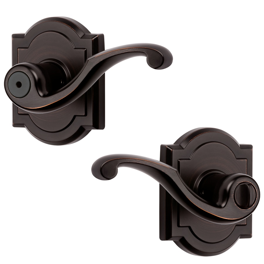 BALDWIN Madrina Venetian Bronze Turn Lock Privacy Door Lever