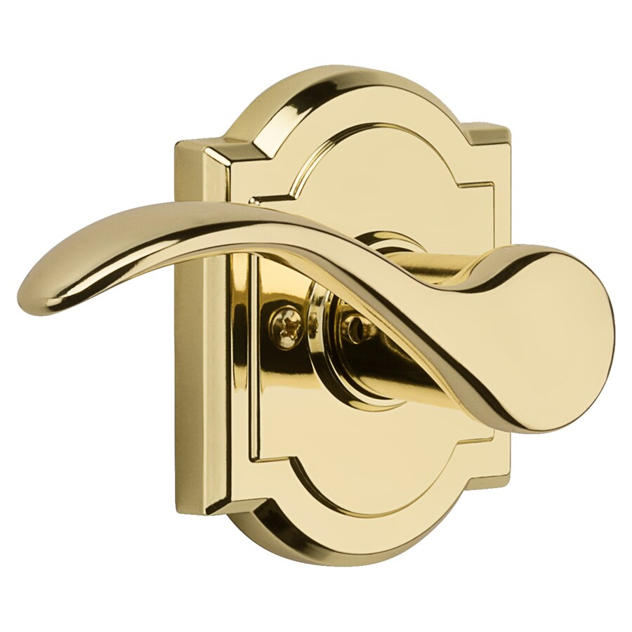 Kwikset Tobin Polished Brass Left-Handed Dummy Door Lever