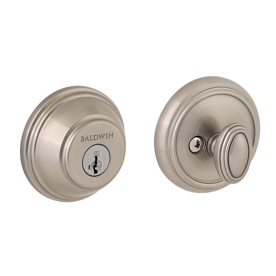BALDWIN Prestige 380 SmartKey Satin Nickel Single-Cylinder Deadbolt