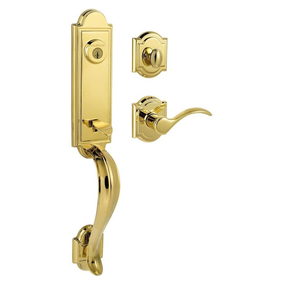 Kwikset Avendale Lifetime Polished Brass Keyed Entry Door
