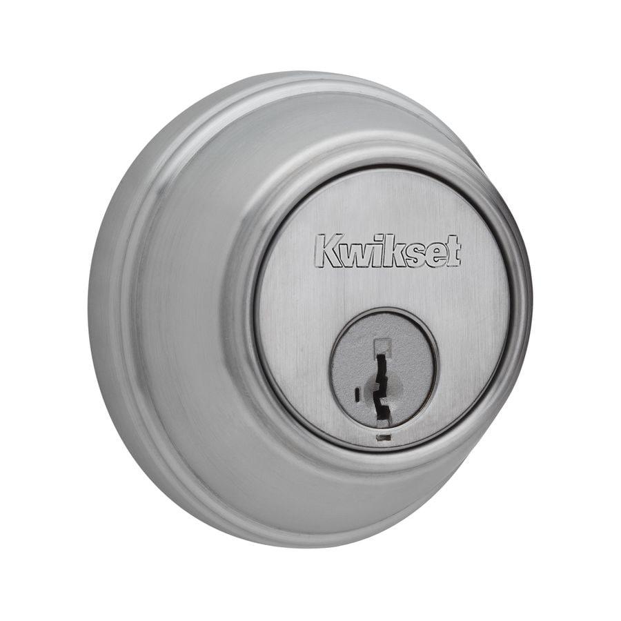 Kwikset Key Control SmartKey Satin Chrome Single-Cylinder Deadbolt