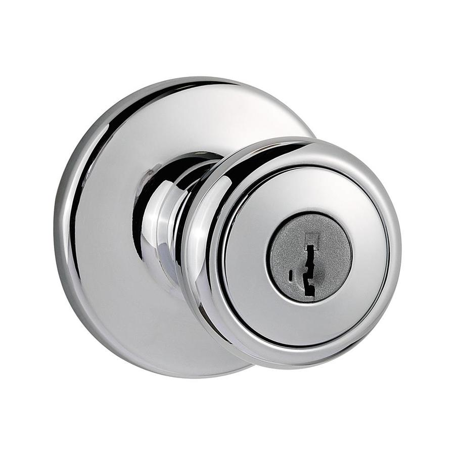 Kwikset Tylo Polished Chrome Keyed Entry Door Knob Single Pack With Smartkey