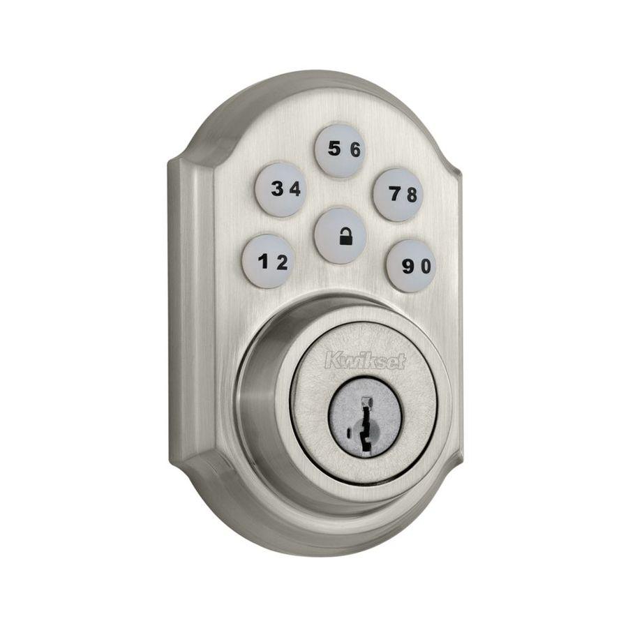 Shop Kwikset SmartCode SmartKey Satin Nickel Single-Cylinder ...